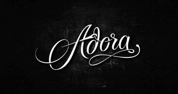 Adora-Script-Logotype-logo-design